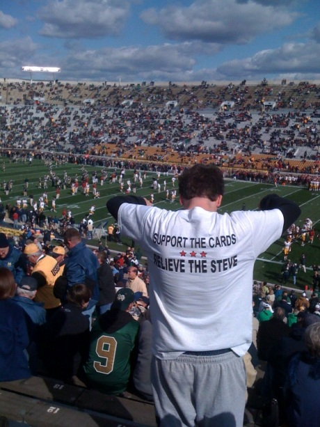 You know Steve is in big, big, big trouble when fans at Charlie Weis Stadium are Bagging Krag.